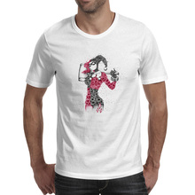 Crazy Joker Lady T Shirt Fashion Design Punk T-shirt Brand Style Skate Unisex Tee