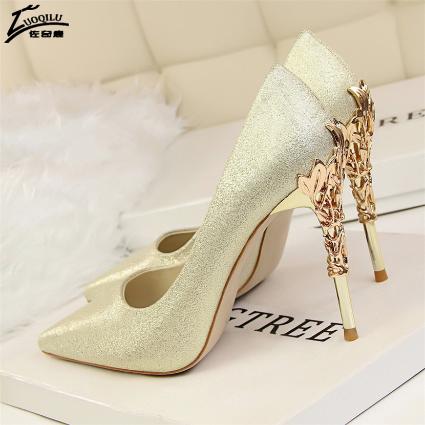 Sexy Women High Heels Silver Pumps Wedding Shoes bride ladies Heels Party Dress Shoes Woman High Heel Zapatos Mujer Tacon vtota 2017 autumn shoes woman women s high heels sexy women pumps bride party thin heel pointed toe comfortable zapatos mujer