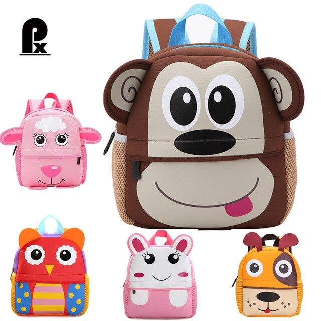 e987f7a9a7 2018 Kindergarten Schoolbag 3D Animal Kid Backpack Infant School Bags for Children  Backpack Satchel Schoolbag Mochila Infantil