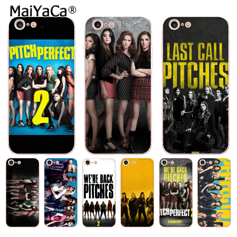 MaiYaCa pitch perfect transparent soft tpu phone case cover for iPhone X 6 6s 7 7plus 8 8Plus 4 4S 5 5S 5C case coque