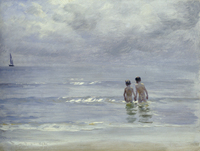 Boys Bathing On The Beach At Skagen by Peter Severin Kroyer oil painting Portrait Landscape Art High quality Hand painted