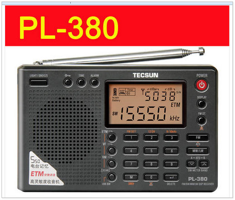TECSUN PL-380 DSP with ETM PLL WORLD BAND RADIO PL380