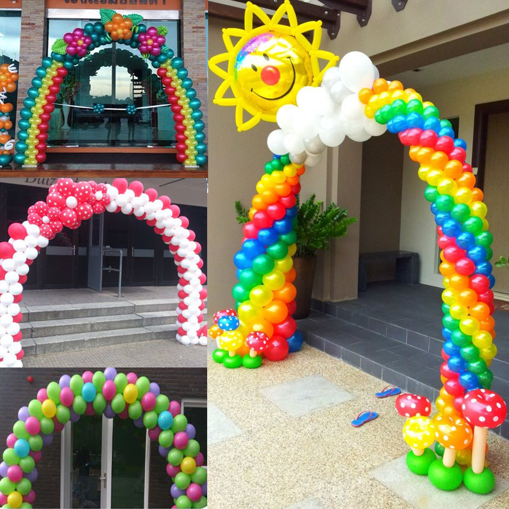 Online get cheap wedding balloon arch for Arch balloon decoration