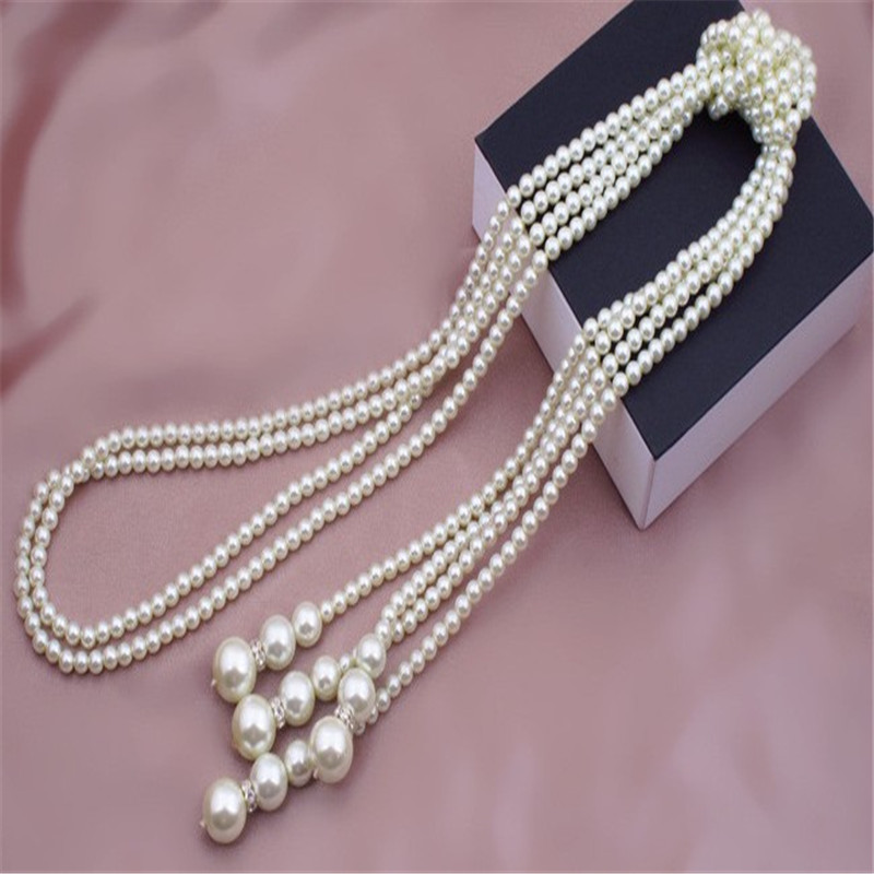 Fashion Pearl Necklace Statement Strand Maxi Jewelry Big Pearl Beads Chain Pearl Choker Chunky Necklace For Women in Choker Necklaces from Jewelry Accessories
