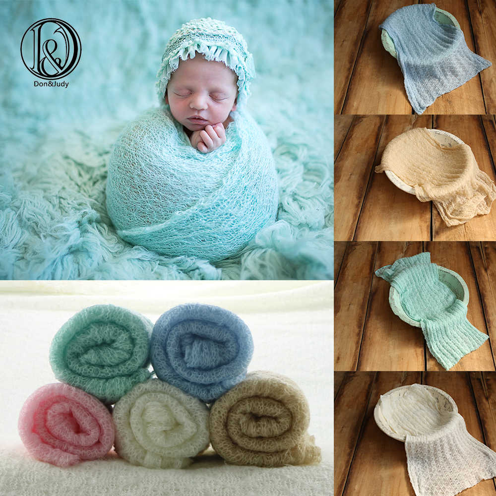 New 150x40cm Mohair Stretch Knit Wrap Newborn Baby Photography Studio Props Boutique Stretchy Wrap Baby Blankets Swaddle Wraps