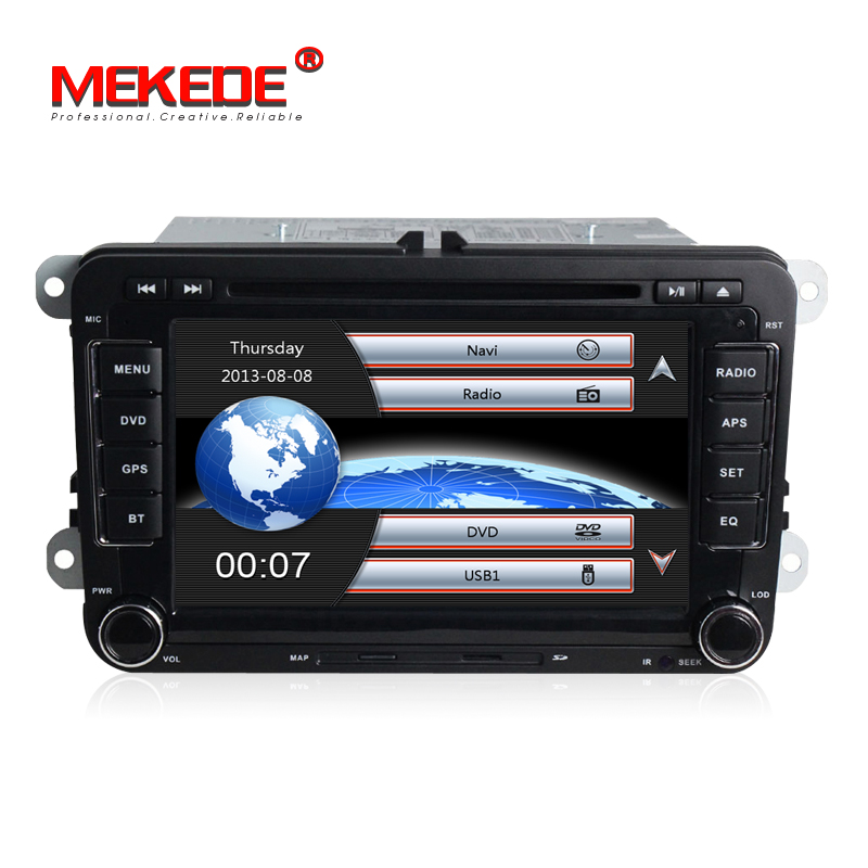 Duty free européen! lecteur DVD Gps de voiture de 7 pouces 2din pour VW Skoda Octavia/Fabia/Rapid/Yeti/Superb/Seat avec le bouton coloré de lumières