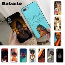 Babaite queen афро меланин поппин Черная Девушка роскошный высокий чехол для телефона для iPhone 8 7 6 6S Plus X XS XR XSMax 5 5S11 11pro 11promax