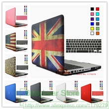 2in1 England USA Flag Hard Case Protector for MacBook 11 12 Air 13 inch Pro 13 Pro Retina 15 inch Touch Bar 2014 2015 2016 2017