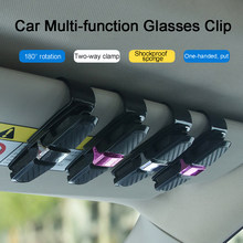 Portable Fastener Cip Eyeglasses Clip Ticket Card Clamp ABS Car Glasses Cases Black Car Sun Visor Sunglasses Holder Stand(China)