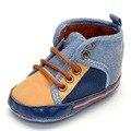 2016 Recém-nascidos Sapatos Prewalker Sapatilha Execução Sapatos Sapatos de Sola de Algodão Macio Do Bebê Roupas Menino