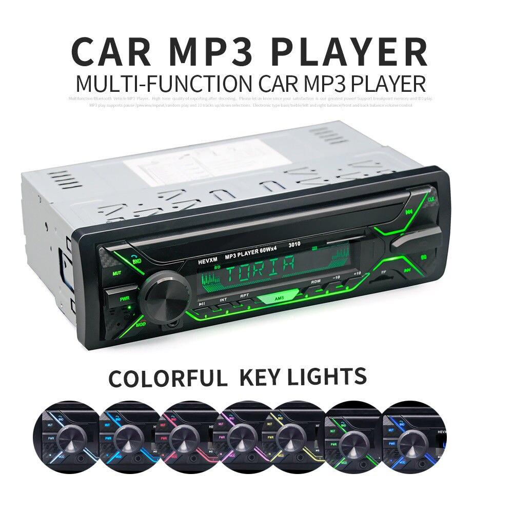 Colorful Detachable Car Radio Bluetooth Autoradio USB 1 Din Stereo Audio MP3 SD FM Tuner Single disc U Disk Unit Machine D4785BT