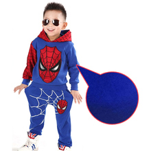 On Sale Boys Clothing Set,Kids Sport Cartoon Cotton Clothes Suit,Boys Spider-Man Sweater+Pants 2pcs Clothing Set,Kids Set