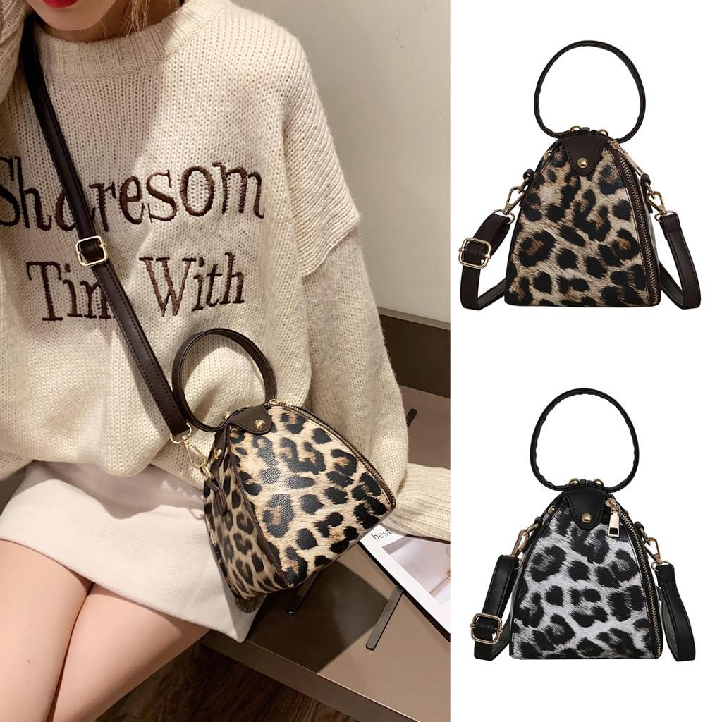 Bags Leopard Crossbody-Bags Handle Beach Women PU