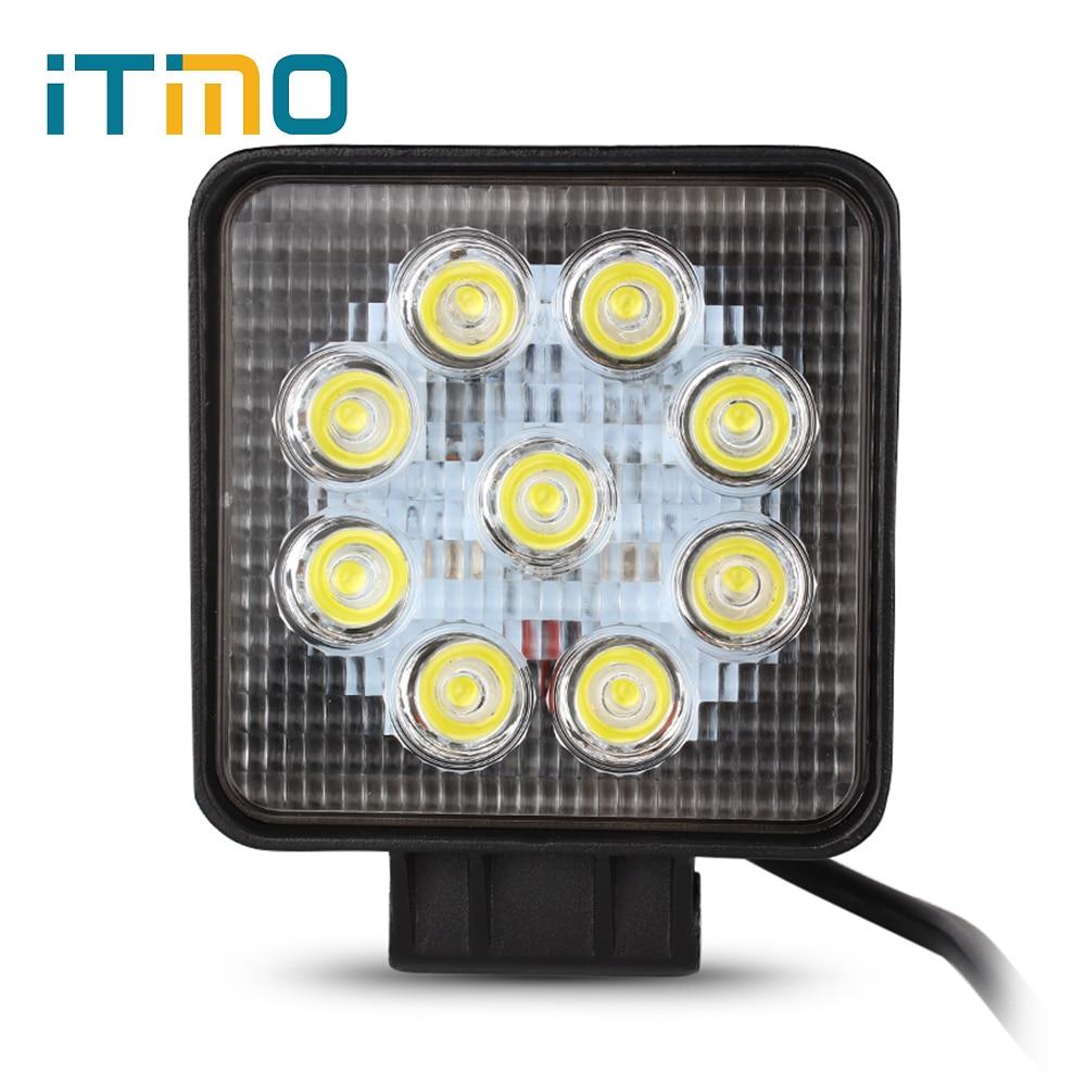 Vízálló 27W-os LED-es munkavilágos vészvilágító lámpa 12V - Professzionális világítás