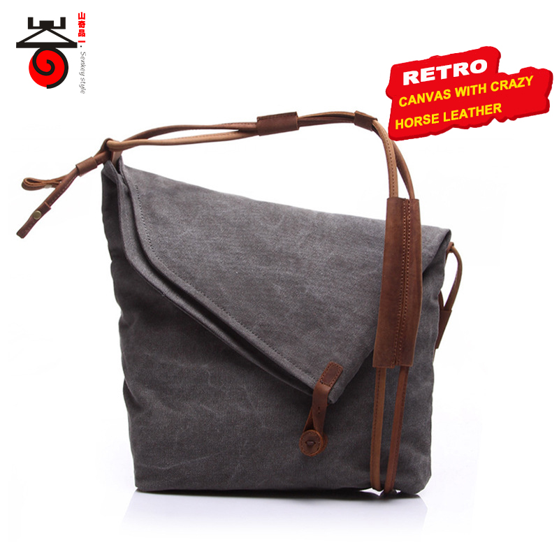 2017 Luxury Retro Men Messenger bags Casual Vintage Canvas Bag Men Single Shoulder Crossbody Bag Women Fashion Tide Travel bag canvas rivet single shoulder bags vintage fashion solid zipper male crossbody bag luxury casual handbags men travel package