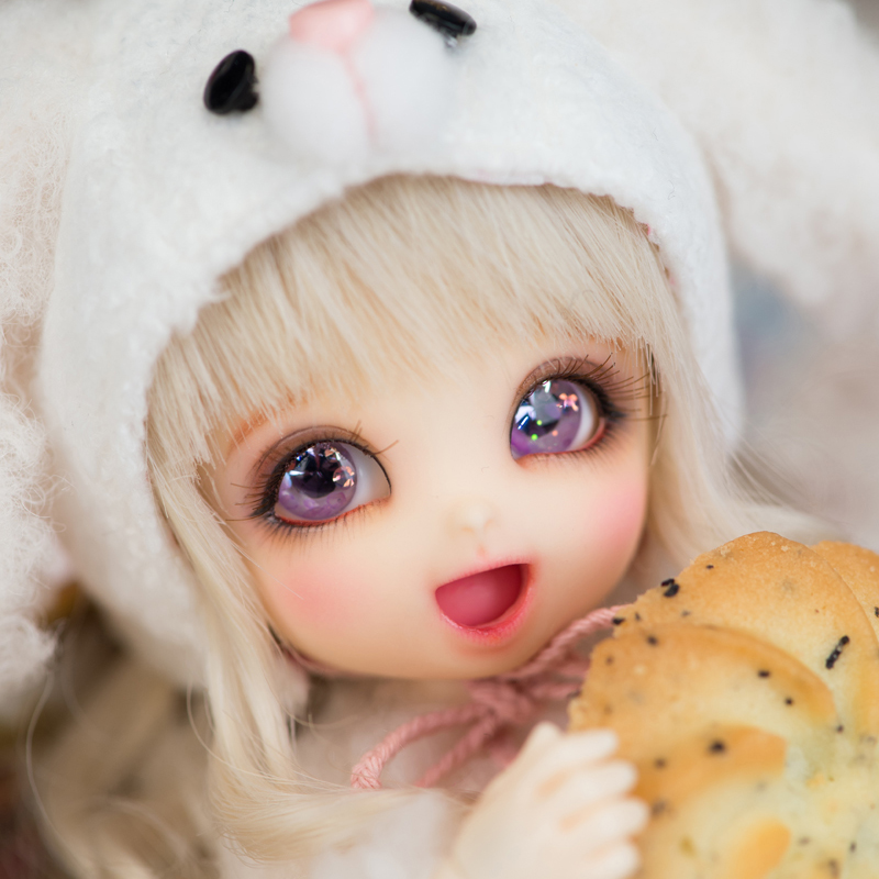 2020 New Arrival <font><b>1/8</b></font> <font><b>BJD</b></font> Doll <font><b>BJD</b></font>/SD BB Cute PongPong Doll With Free Eyes For Baby Girl Gift image
