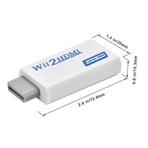 Image 5 - Wii para HDMI Conversor Suporte Wii2HDMI FullHD 720P 1080P 3.5 milímetros de Áudio Adaptador para HDTV Conversor Wii
