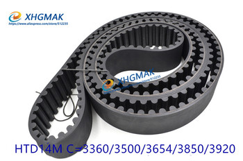 HTD 14M synchronous belt timing belt C=3360-3920 width 28.5-85mm Teeth 240-280 rubber belt timing belt cnc transmission belt фото