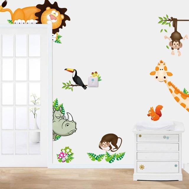 ISHOWTIENDA Dschungel Tiere Wandaufkleber für Kinderzimmer Safari ...