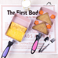 Justcook Japanese Tamagoyaki Egg Rolls Pan Non Stick Frying Pans No Oil Smoke General Use For