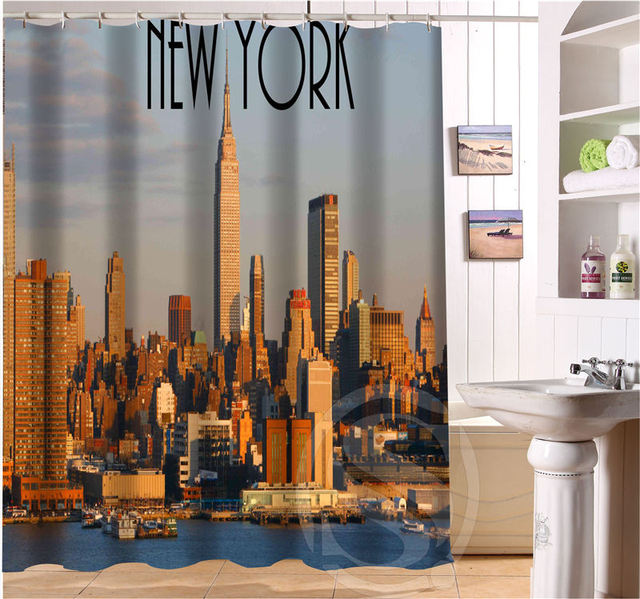 New York City Personalized Custom Shower Curtain Bath Waterproof MORE SIZE FREE SHIPPING SQ0423 LQN09
