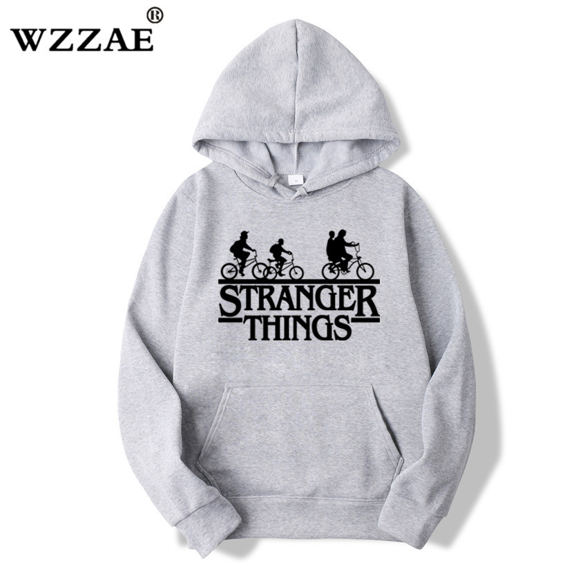 Trendy Faces Stranger Things Hooded Hoodies and Sweatshirts 42