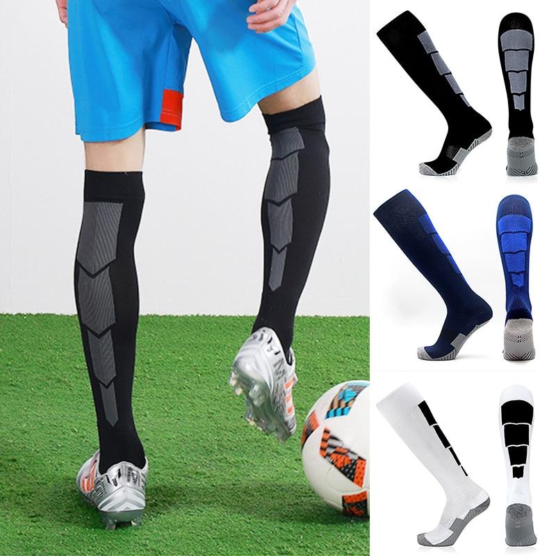 Meias de tubo longo de náilon meias de futebol jogo antiséptico desodorização econômica durável