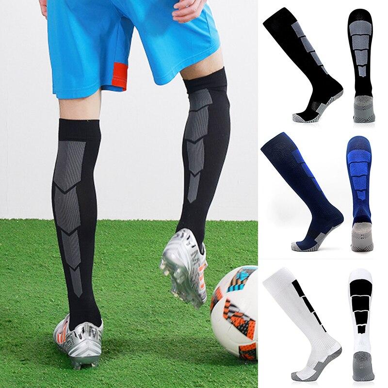 Calcetines largos de nailon medias de fútbol partido antiséptico desodorización económico duradero