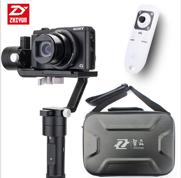 Zhiyun Crane M 3-axle Handheld Stabilizer Gimbal + Remote controller Case for DSLR Camera Support Smartphone Camera 650g zhiyun z1 rider m 3 axis wearable camera gimbal stabilizer app wireless remote control for gopro 3 4