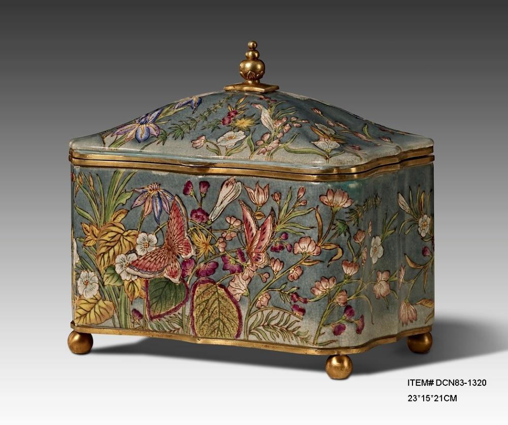 Decorative Storage Boxes Vintage : European style antique porcelain decorative box storage