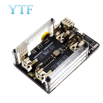 10pcs UPS power extension board with RTC measurement 5V output, serial port function 5V 3A+USB data cable Raspberry pi 2 pi 3 B+ 1