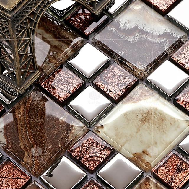 Bunte Kristallglas Gemischt überzug Metall Mosaik Fliesen EHGM1024E Für  Küche Backsplash Fliesen Badezimmer Mosaik Fliesen Wand