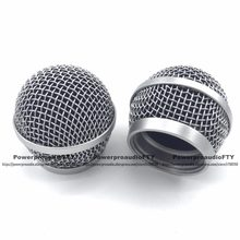 2 PCS Ball Head Mesh Mic Grille Fits For shure PG48/PG58 microphone(China)