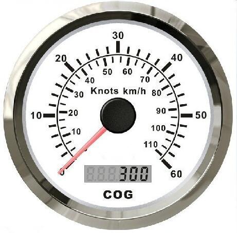 100% A Estrenar 85mm GPS Tabla de Velocidad Velocímetro 60 Millas de Mar/60 Nudos Para El Barco Con La Luz blanco