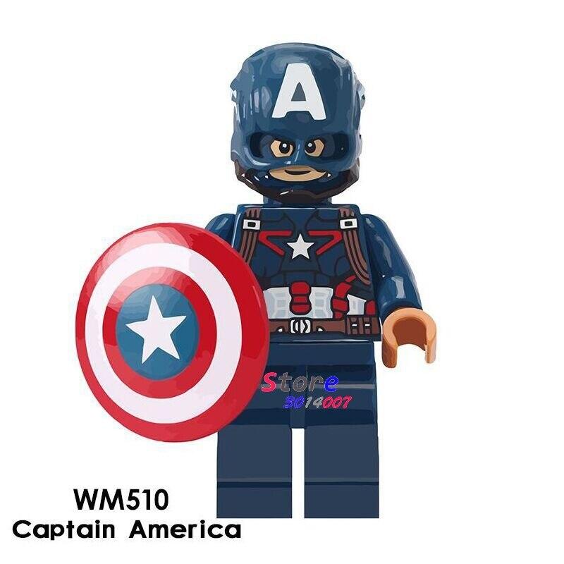 Single Avengers Infinity War Captain America Black Dwarf Super Hero 7CM Thanos model figure building blocks toys for children single sale decool 0250 0255 captain america figure civil war building blocks marvel hero models toys