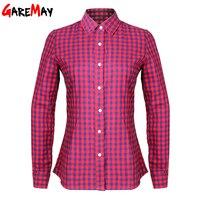 Women S Cotton Shirts Blouses Blusas In Spring 2015 Cotton Women Females Long Sleeve Slim Plus
