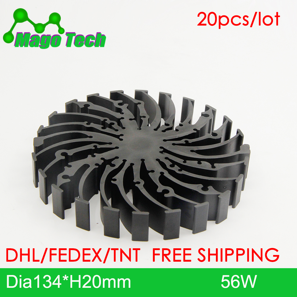 ø134*20mm Modular LED Star Cooler for low and high bay light  LED Grow Light Heatsink 36 mounting holes for all COB Brands|Lamp Radiators| |  - title=