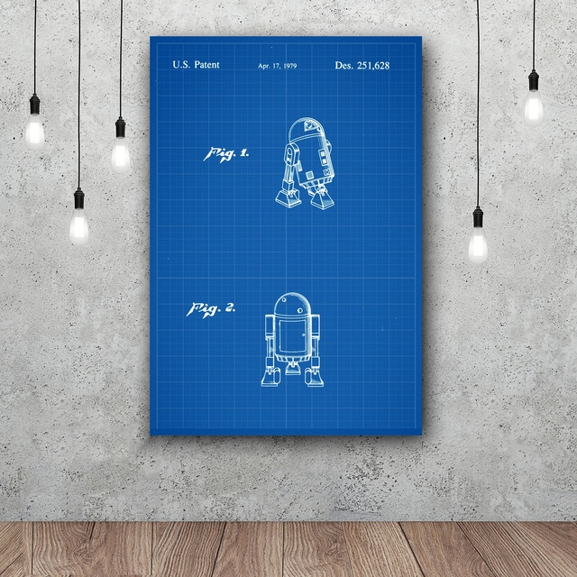 Blueprint inkjet paper copy star wars r2 d2 patent art silk poster blueprint inkjet paper copy star wars r2 d2 patent art silk poster home decor 12x18 24x36inch malvernweather Image collections