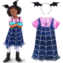 Princess Summer Dresses Girls Vampirina Cosplay Costume For Children Kids Xmas Birthday Party Tutu Moana Vaiana Dresses Fantasy