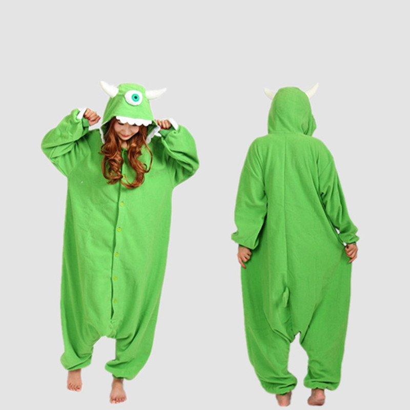 Pajamas Onesie One Eyed Monster Cosplay Costume Fleece Winter Sleepwear Anime Pajamas Onesie Unisex Costume cosplay Unisex
