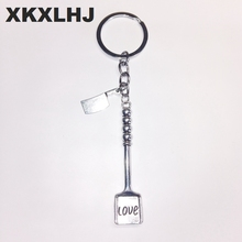 2018 Fashion Jewelry Chef Tool Knife Keychain, Shovel Keychain, Fries Keychain Silver Elegant Gift 2019 1pc fashion jewelry mini keychain spider keychain spider web keychain silver dres s elegant diy handmade