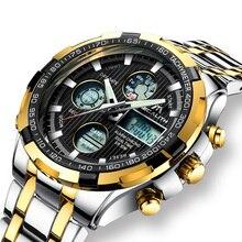 Digital Sports Watch Men Luxury Gold