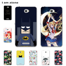 I am alone Phone Case For Sony Xperia E4 2015 5.0 inch Hard Plastic Bag Mobile Cellphone Fashion Color For Sony E4 Free Shipping(China)