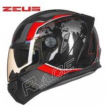 DOT ZEUS ZS-813 Full face motocross Helmet motorcycle MOTO electric motorbike safety dual visor helmets