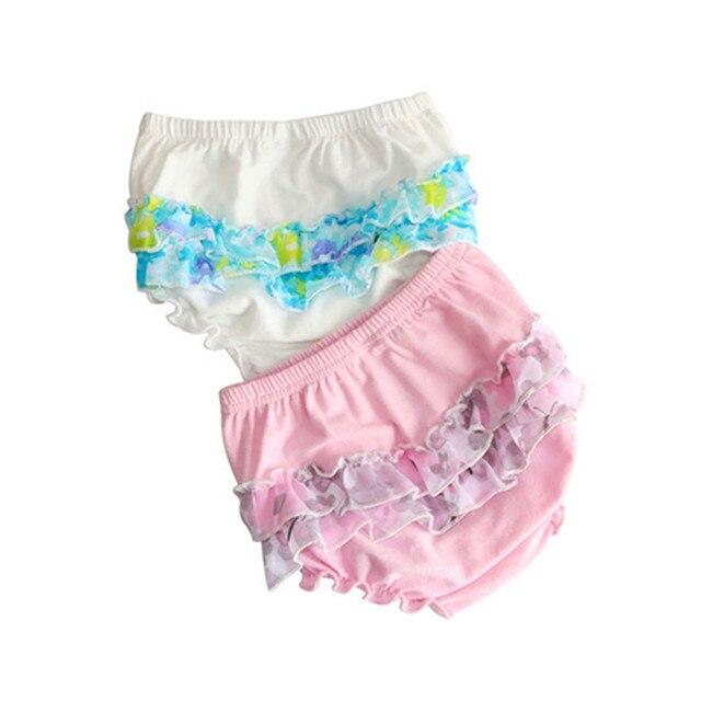3b7607a241 Volantes recién nacido bebé Bloomers encaje niñas pantalones cortos bragas  verano Pantalones PP niños ropa
