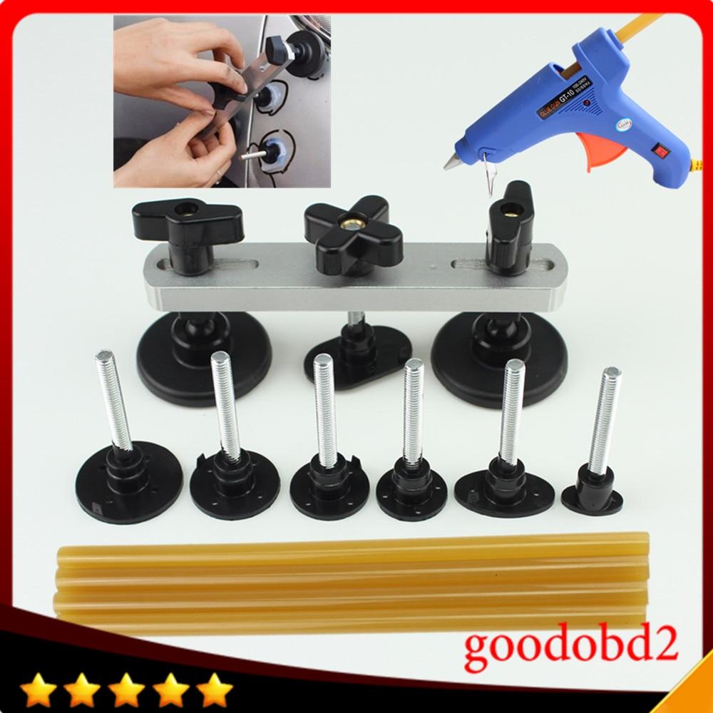 Ferramentas de PDR Paintless Dent Repair Tool kit de Instrumentos do carro Mais Recente ponte Extrator Dent Remoção Conjunto de Ferramentas de Mão com pistola de cola um