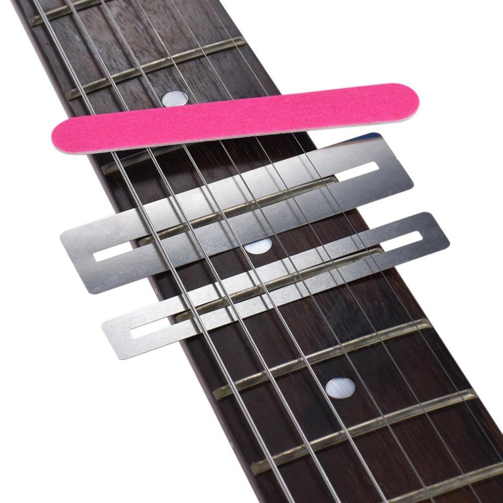 3 pcs set stainless steel guitar string grinding tools repairing tool set fretboard guard. Black Bedroom Furniture Sets. Home Design Ideas