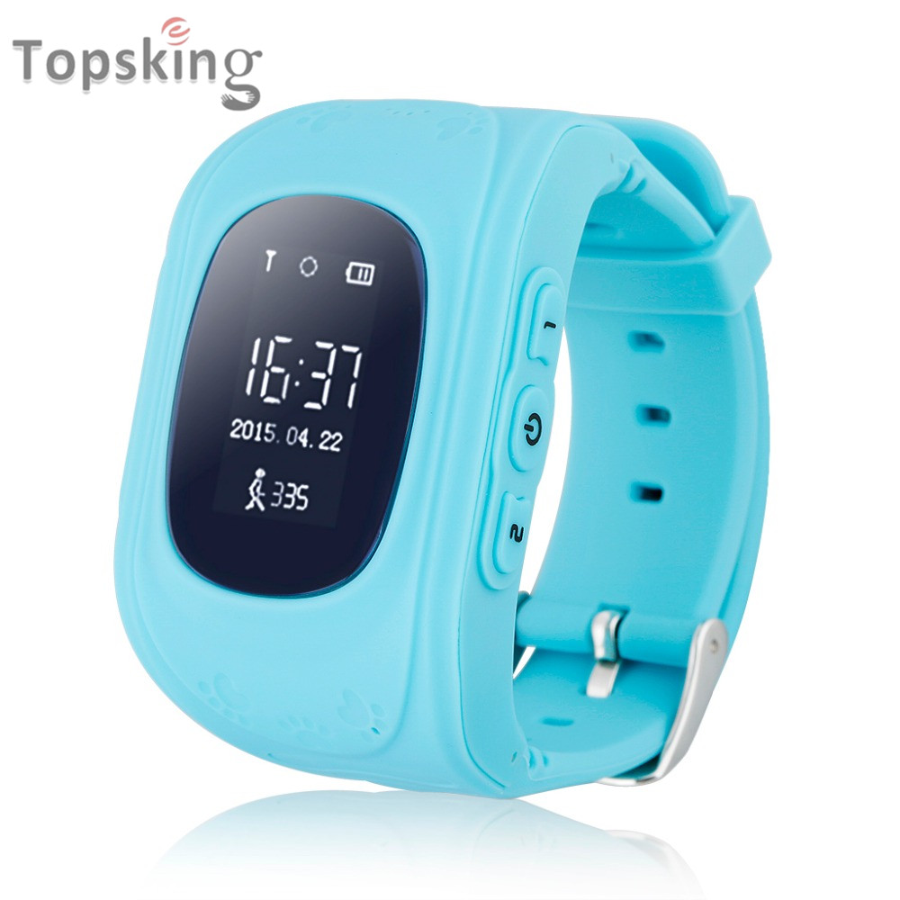 OLED Smart Kid Safe GPS Watch Wristwatch SOS Call Location Finder Locator Tracker for Kid Child