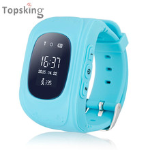 OLED Smart Kid Safe GPS Watch Wristwatch SOS Call Location Finder Locator Tracker for Kid Child Anti Lost Monitor Baby Gift Q50