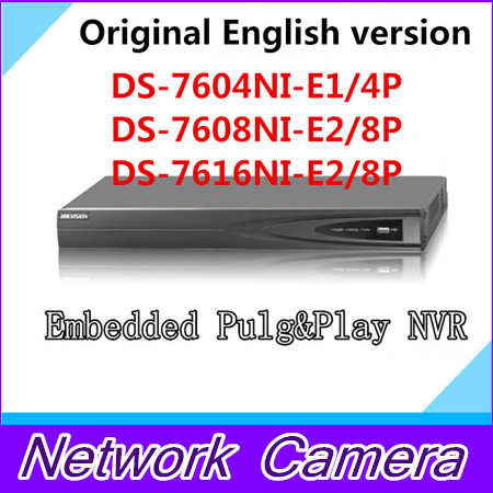 English Version DS-7604NI-E1/4P DS-7608NI-E2/8P nvr DS-7616NI-E2/8P Economic PoE NVR 4ch 8ch 16ch NVR 16ch 8poe nvr 7616ni se p original english version